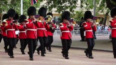 Queen's Soldier at Queen's Birthday rehearsal Parade — Vídeo de stock