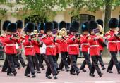 British Queen guards marching band — Stock Photo
