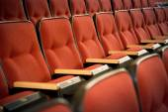 Red theatre seats — Stock Photo