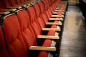 Red theatre seats — Stock Photo