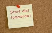 Start diet tommorow — Foto de Stock