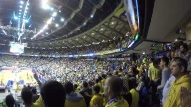 Full Basketball Stadium — Stock Video