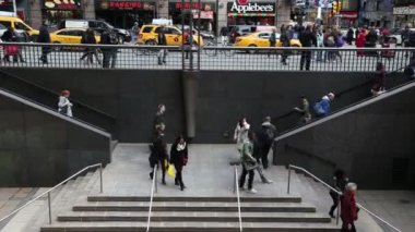 People rush to work in New York City — Vídeo stock
