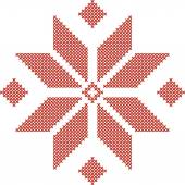 Belarusian traditional embroidered pattern — Stockvector