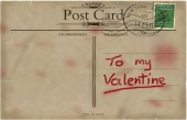 Valentines postcard — Stock Photo