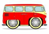 Funny old van — Stock Vector