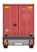 Truck and container — Vector de stock