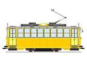 Vintage tram — Stock Vector