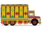 Jingle truck — Stock Vector