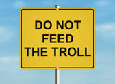 Internet troll — Stock Photo