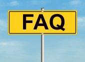 FAQ sign — Stock Photo