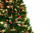 Christmas tree decoraition on white background — Foto de Stock