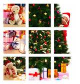 рождественский коллаж — Стоковое фото