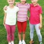 Group of different children having good summertime — Stock Photo #66400031