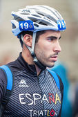Closeup of Vincente Hernandez from Spain in for final preparatio — Stock Photo