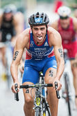 Anthony Pujades from France after the transition at the Mens ITU — Stock Photo