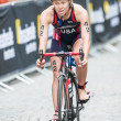 Постер, плакат: Chelsea Burns from USA after the transition to cycling at the Wo
