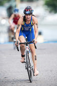 Asa Annerstedt from Sweden after the transition to cycling at th — Stock Photo