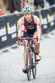 Chelsea Burns from USA after the transition to cycling at the Wo — Stock Photo