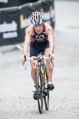 Jodie Stimpson from Great Britain after the transition at the Wo — Stock Photo