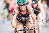 Closeup of Katie Hursley from USA after the transition to cyclin — Stock Photo