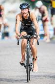 Rebecca Clarke from New Zeeland after the transition to cycling — Foto de Stock
