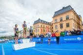 Pallen christian på womens itu world triathlon serien händelsen 20 — Stockfoto