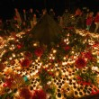 Постер, плакат: Candels lit during all saints night