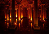 Basilica Cistern in the city of Istanbul — Stock Photo