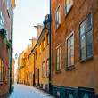 Small road in the old town of Stockholm during winter — Stock Photo #61245037