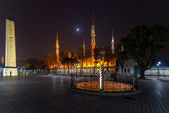 Hippodrome with the snake pillar in Istanbul — Stock Photo