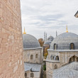 Blue Mosque in Istanbul Turkey from Hagia Sofia — Stock Photo #64031419