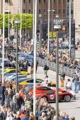 Gumball 3000 custom car at display on the streets of Stockholm — Stock Photo