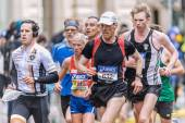 Mixed group of runners in ASICS Stockholm Marathon — Stock Photo
