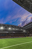 Tele2 arena during the soccer game between DIF and AIK at the ev — Photo