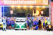 Before the start of Midnattsloppet or the Midnight run — Stockfoto