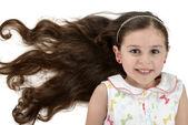 Beautiful Smiling Girl with Beautiful Hair — Stock Photo