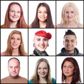 Women and men ranging from 18 to 45 years — Stock Photo