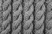 Closeup of cable knitting stitch — Stok fotoğraf