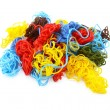 Multi-coloured embroidery threads in a tangled heap — Stock Photo #55507337
