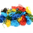 Assorted colourful embroidery threads in a heap — Stock Photo #55507515