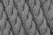 Closeup of cable stitch knitting — Стоковое фото