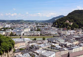 View across the Austrian city of Salzburg — Stock Photo