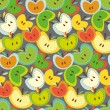 Seamless vector pattern with bright apples — ストックベクタ #55449973