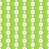 Seamless Daisy Chain Pattern — Stock Vector