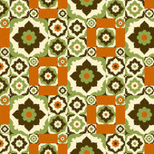 Seamless pattern retro floral ornate — Stock Vector