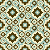 Vintage ceramic tile seamless pattern — Stock Vector