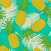 Abstract seamless pineapple pattern — Stock Vector