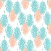 Seamless pattern tropical leaves — Stock Vector
