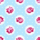 Vintage rose pattern. — Stock Vector